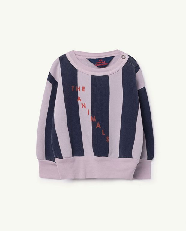 Purple Stripes Bear Sweatshirt