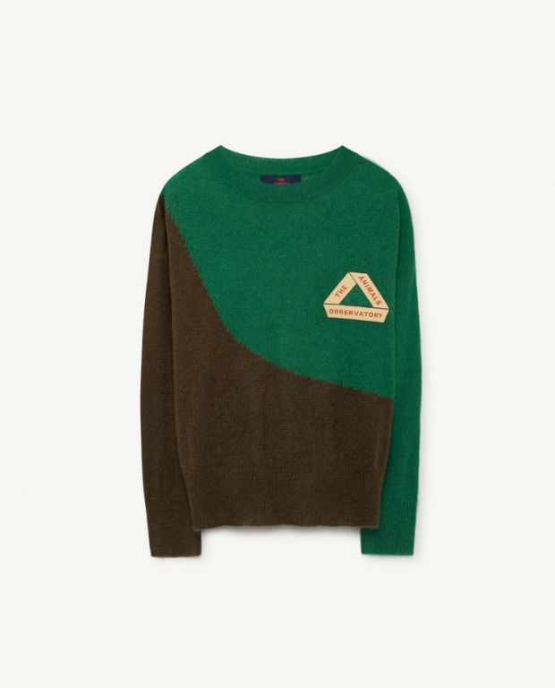 Green Bicolor Bull Sweater
