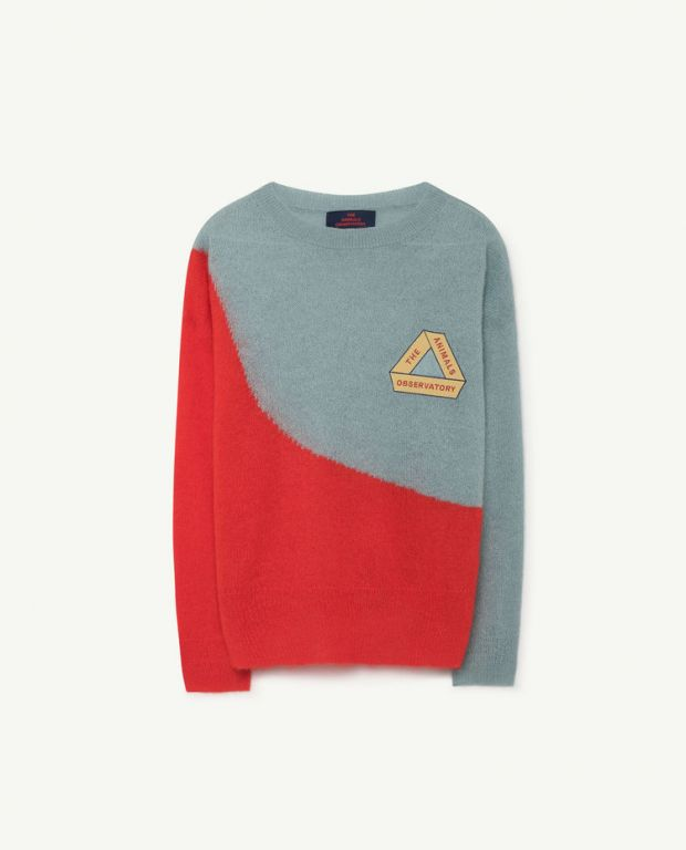 Grey Bicolor Bull Sweater