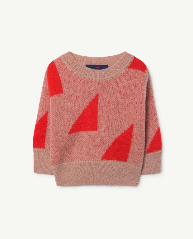 Red Geometric Bull Sweater