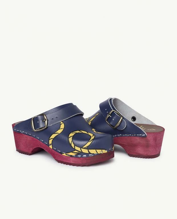 Blue Clogs Shoes