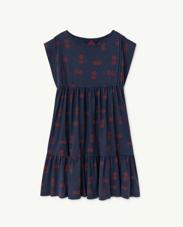 Blue Circles Robin Dress