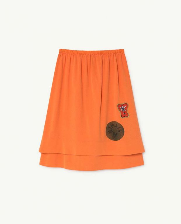 Orange Kitten Skirt