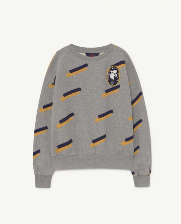 Grey 80's Bear Sweatshirt