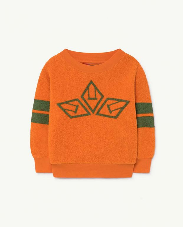 Orange Bear Sweatshirt