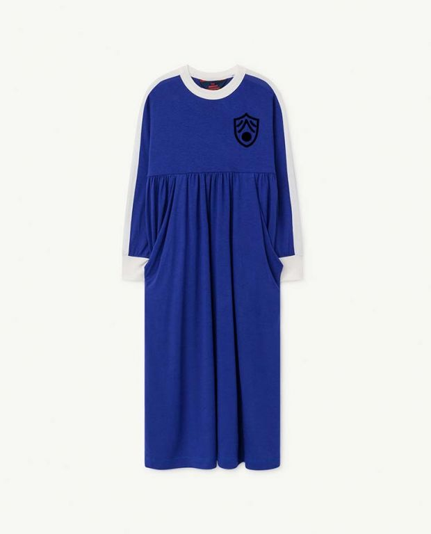 Deep Blue Cockatoo Dress