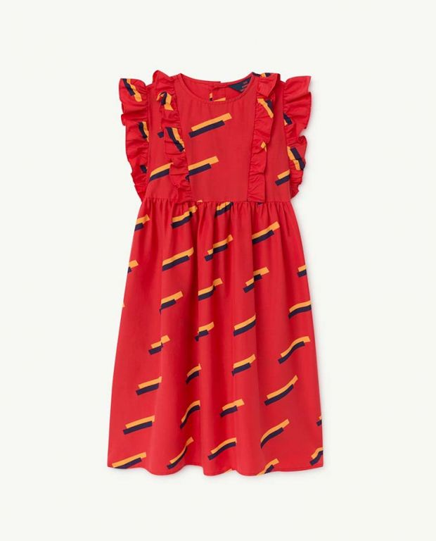 Red 80's Otter Dress