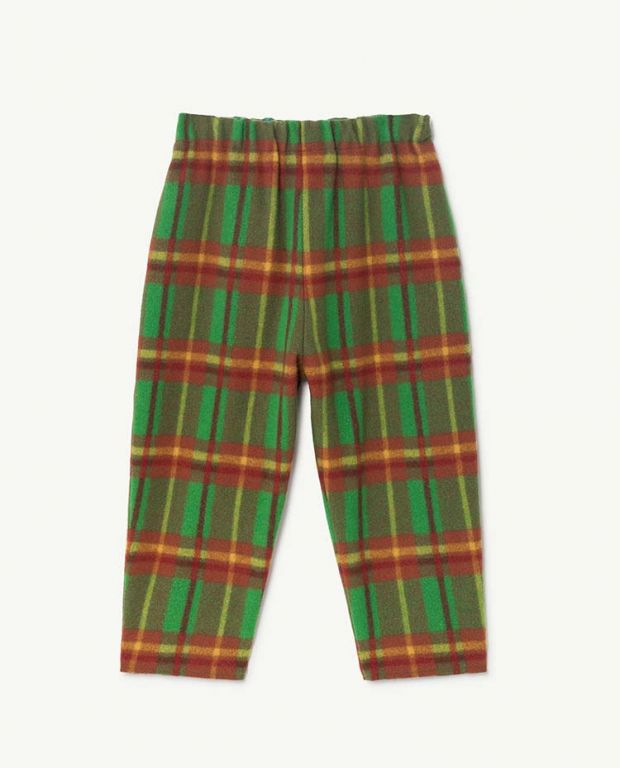 Green Squares Camel Pants