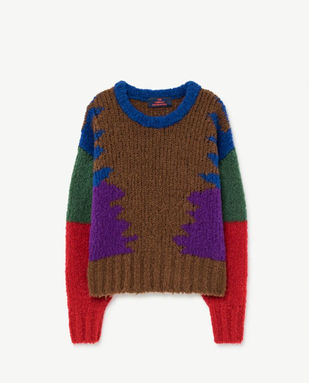 Multicolor Brown Blowfish Sweater