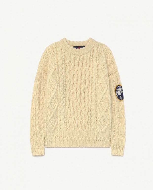 Raw White Blowfish Sweater