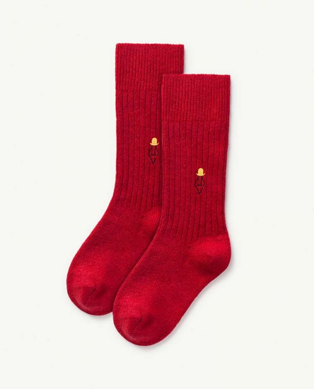 Deep Red Skunk Socks