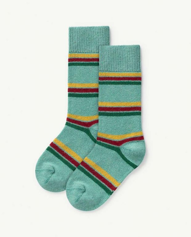 Green Kids Snail Socks