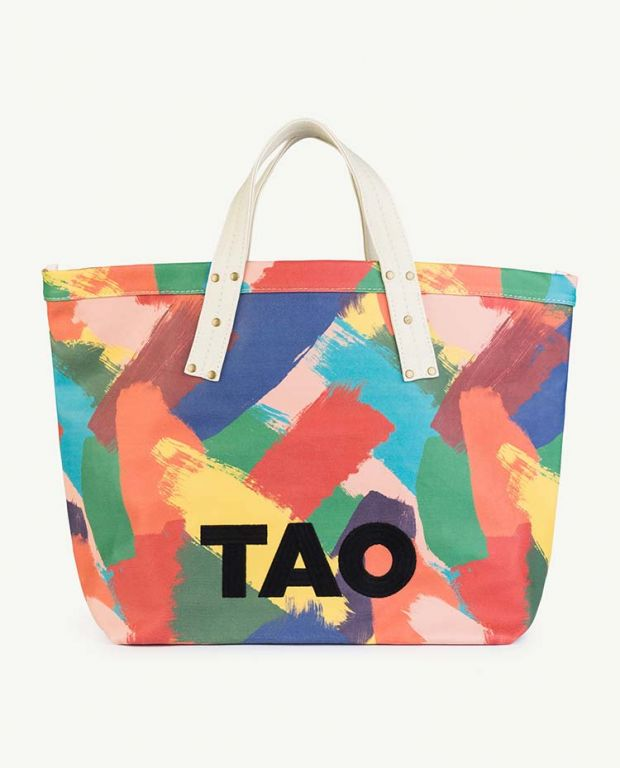 Multicolor Brush Totebag