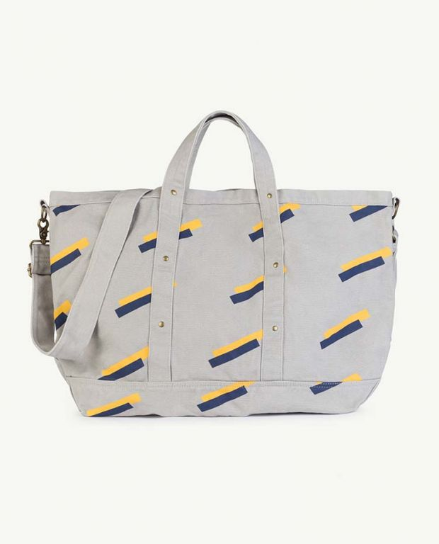 Grey 80's Canvas Bag