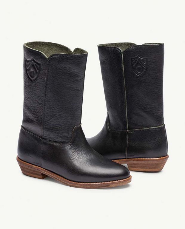 Black Logo Coyote Boots