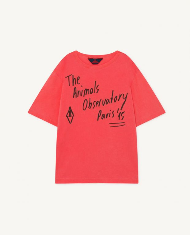 Red Oversize Rooster T-Shirt