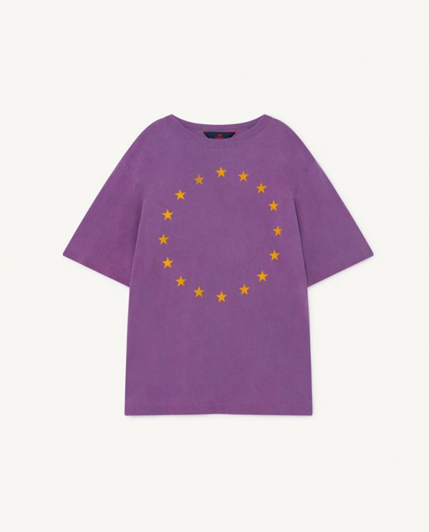 Purple Oversize Rooster T-Shirt