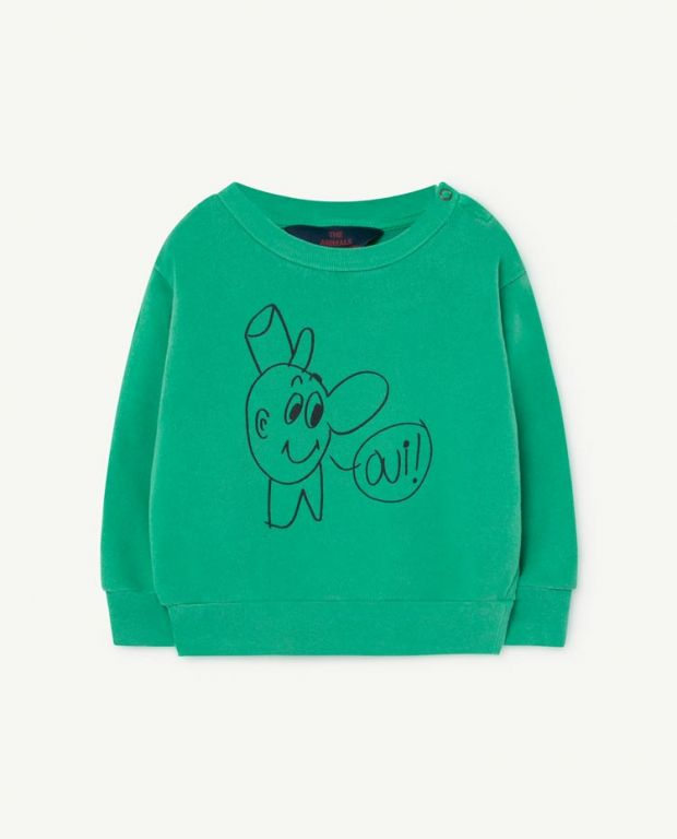 Green Baby Bear Sweatshirt