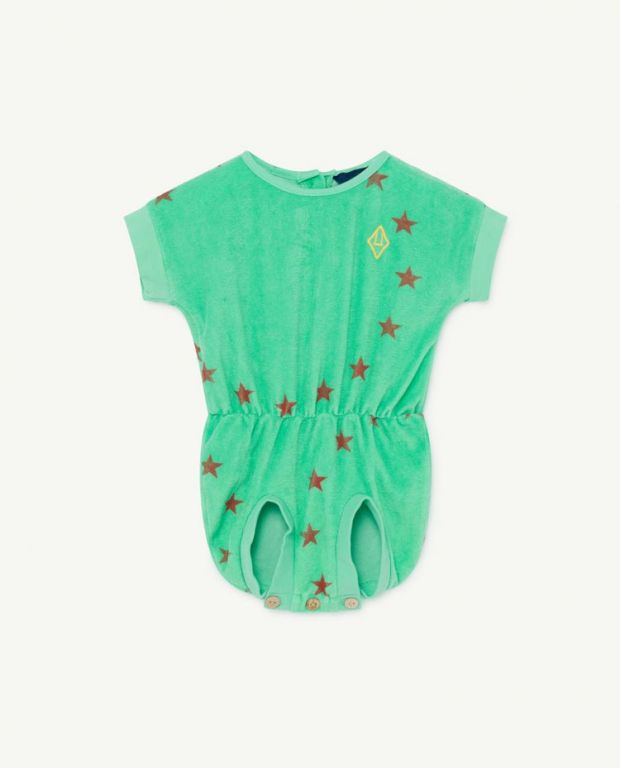 Green Koala Baby Jumpsuit