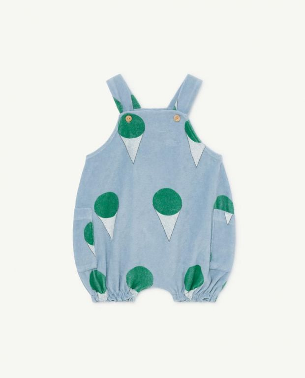 Pale Blue Boar Baby Dungaree