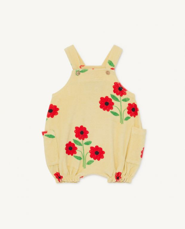 Flower Boar Baby Dungaree