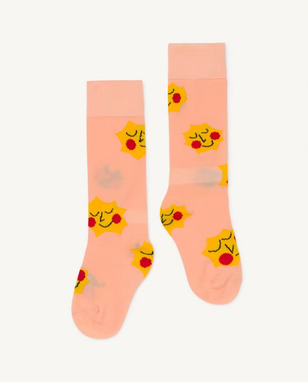 Orange Hen Socks