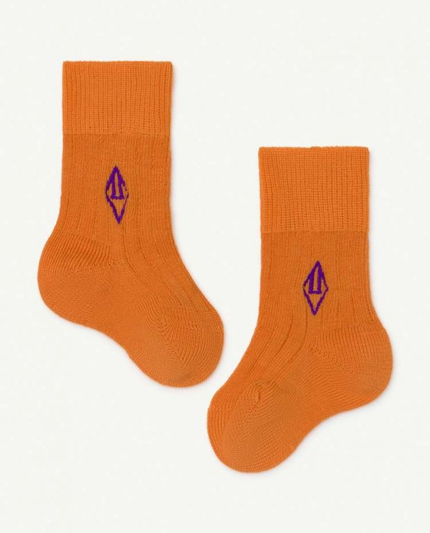 Orange Skunk Socks