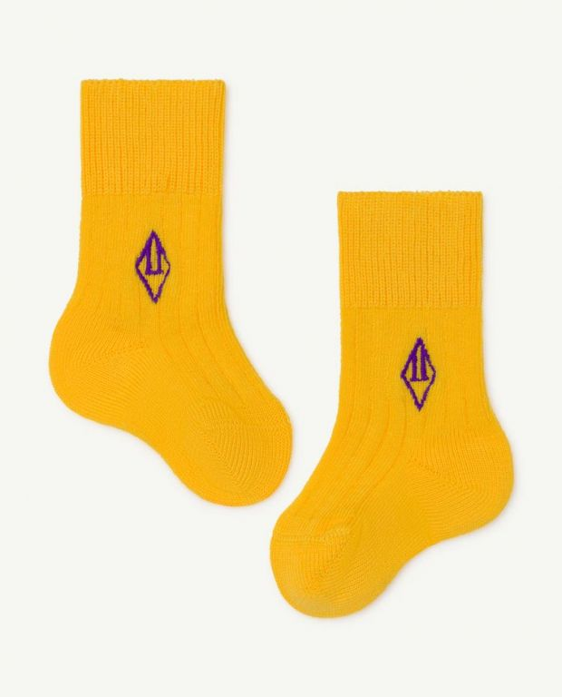 Yellow Skunk Baby Socks