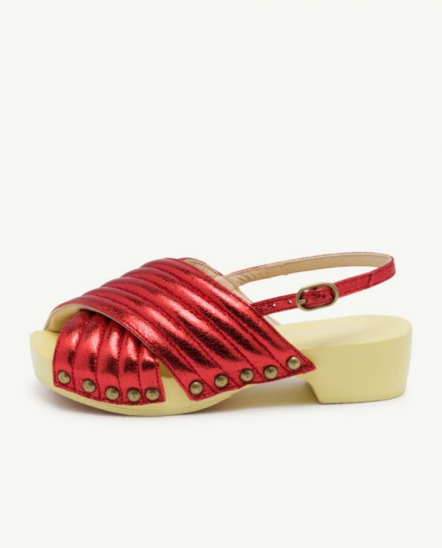 Red Clog Sandals