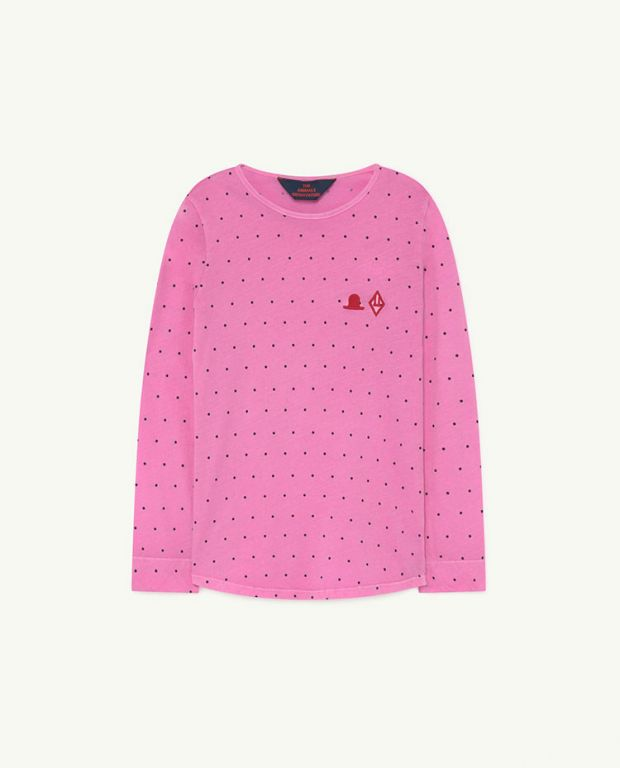 Pink Dots Cricket T-Shirt