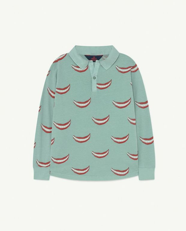 Blue Small Eel Jersey Top
