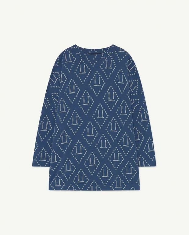 Blue Logo Pigeon Jersey Dress