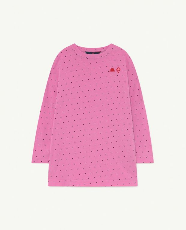 Pink Dots Pigeon Jersey Dress