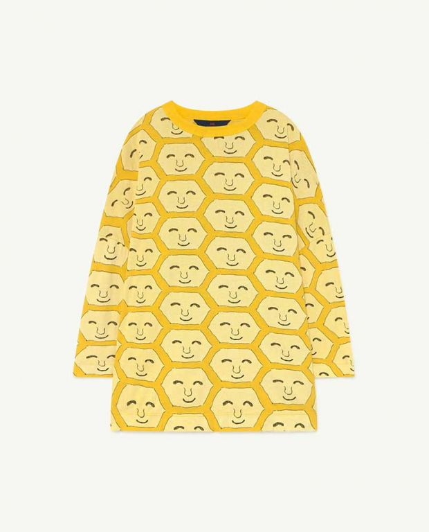 Yellow Face Pigeon Jersey Dress