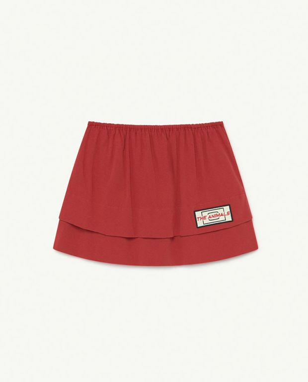 Red Animals Wombat Skirt