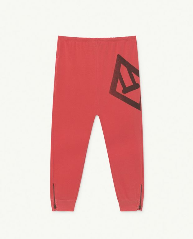 Red Logo Panther Jersey Pants