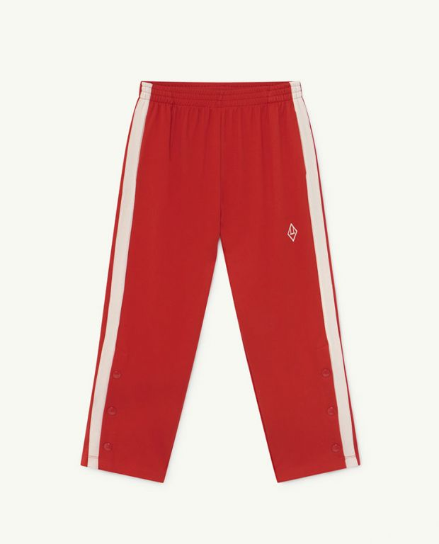 Red Logo Horse Jersey Pants
