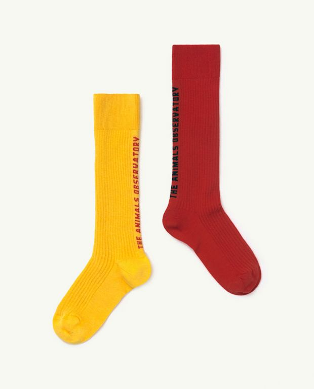 Kid Red Worm Socks