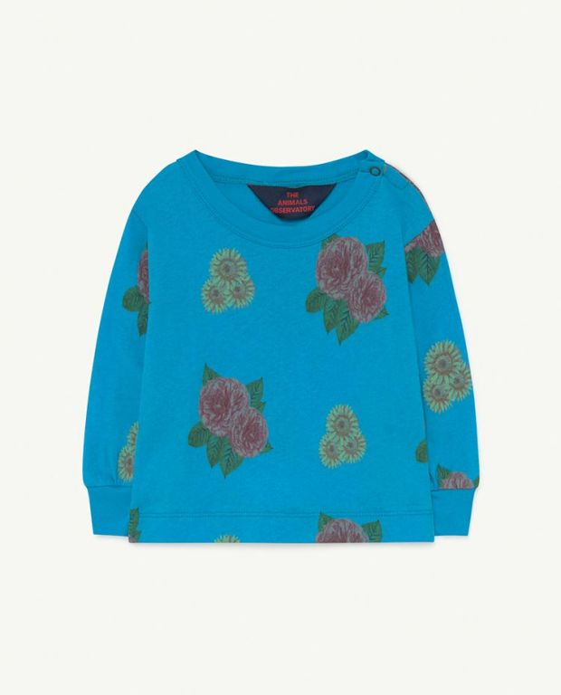Baby Blue Flowers Dog T-Shirt