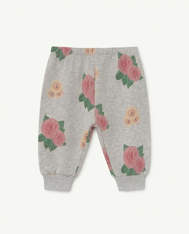 Baby Grey Flowers Dromedary Jersey Pants