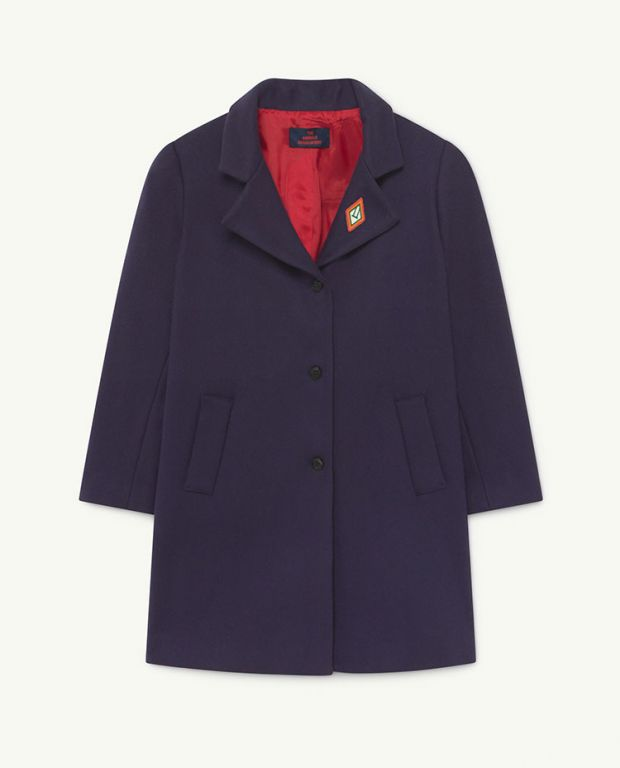Blue Logo Jaguar Wool Coat
