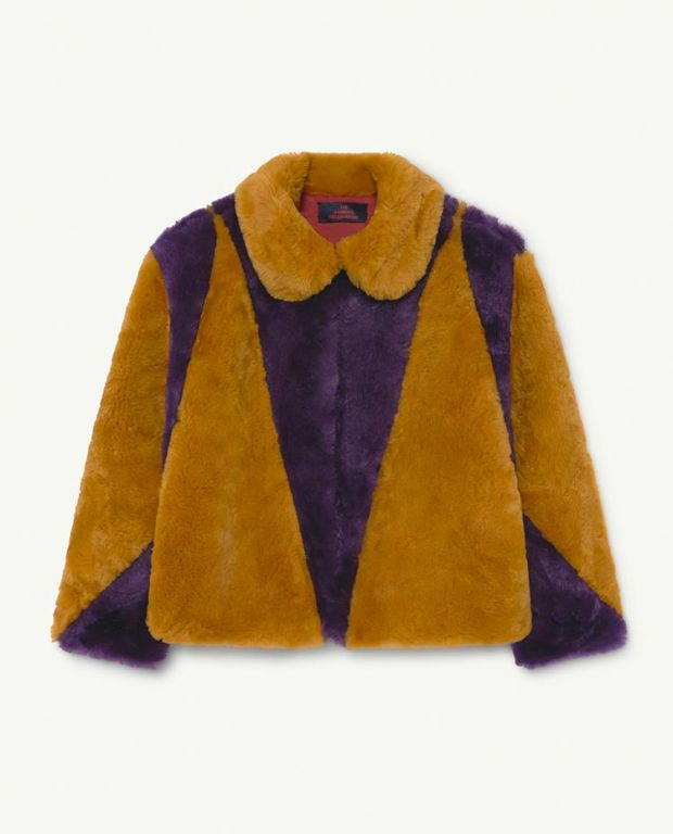 Shrew Purple Fur Coat