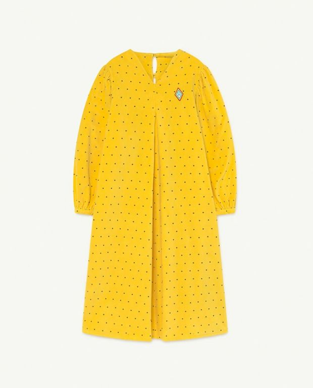 Yellow Dots Giraffe Dress