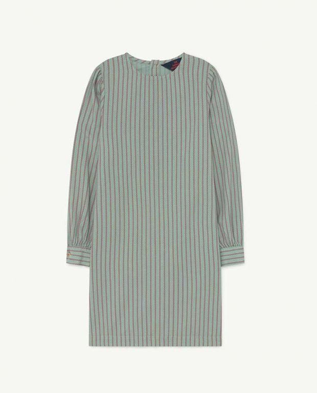 Blue Stripes Tortoise Dress