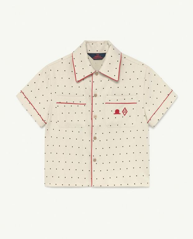 White Dots Kangaroo Twill Shirt