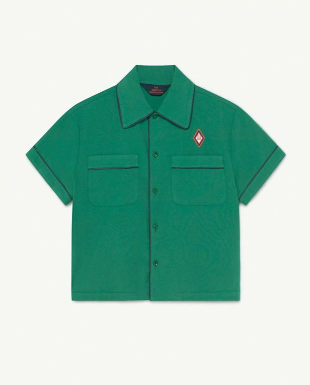 Green Logo Kangaroo Shirt