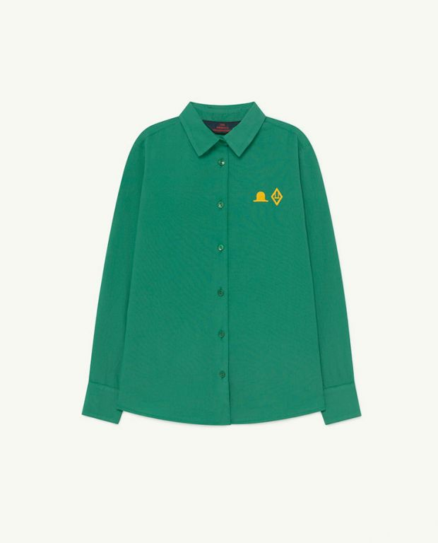 Green Hat Marmot Shirt