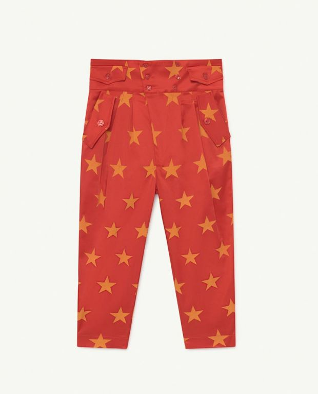Red Stars Camel Bottoms