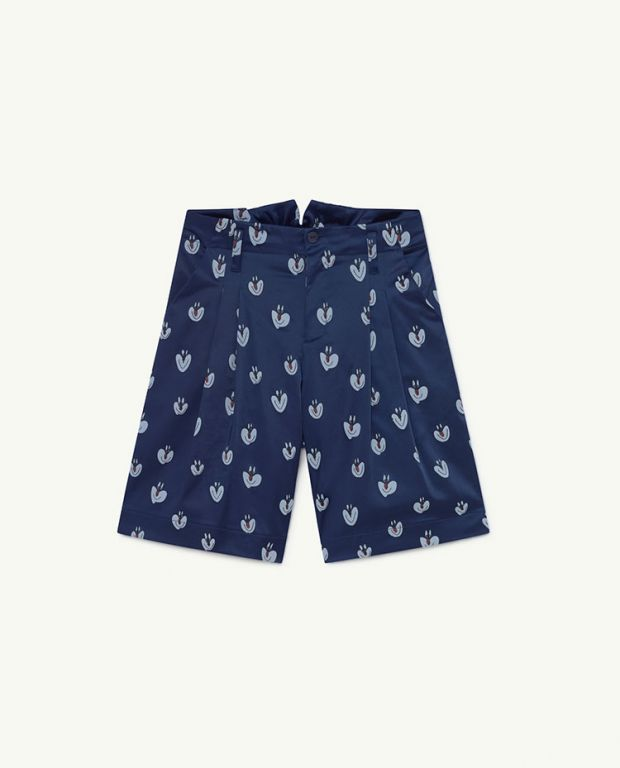 Blue Clowns Monkey Satin Shorts