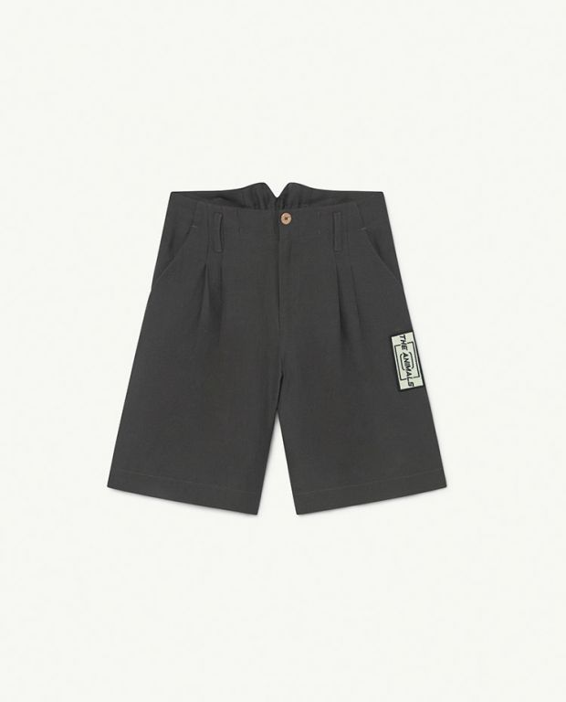Black Animals Monkey Twill Shorts